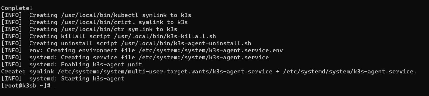 Agent installed on worker nodes